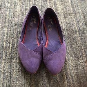 Purple Suede Toms Jutti Flats 8 W